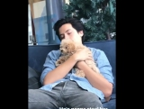 Cole Sprouse and the dog | fucking riverdale
