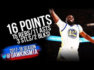 Draymond Green Triple-Double 2018 WCSF GM1 GS Warriors vs Pelicans- 16-15-11!   FreeDawkins
