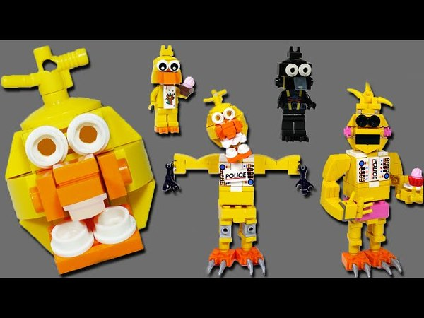 How to Build LEGO Chica (Toy, Withered Phantom) | LEGO FNAF