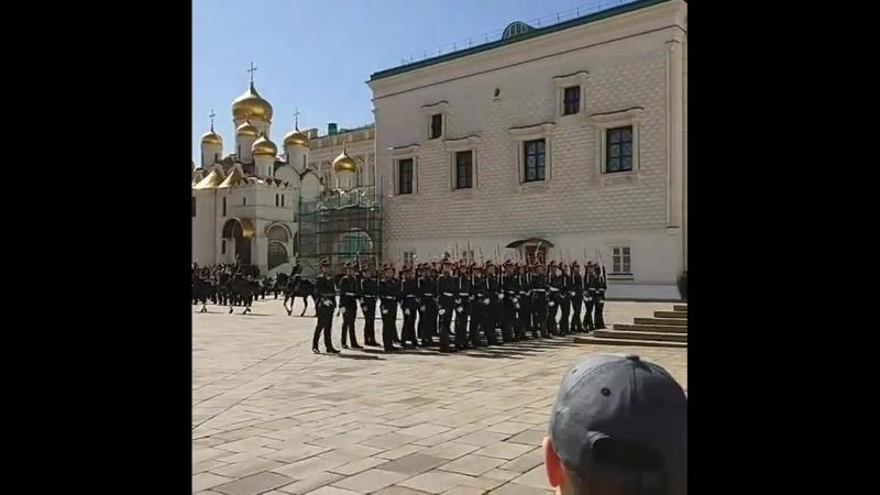 Кремлевский развод караула Президентского полка