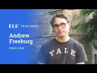 Учите английский с Andrew Freeburg, куратором ELK Academy