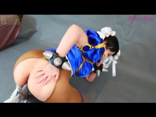 Hidori rose playing in costume and brown pantyhose