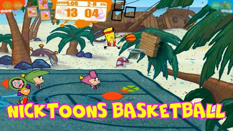Игра Nicktoons Basketball.