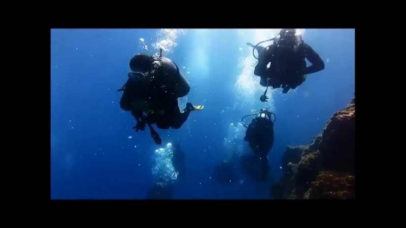 Lovely Diving With My Wife Marina Vasilievna Around Underwater Pirate Cave Near Lanzarote, Canary Islands 27. 04. 2018 - By Mars