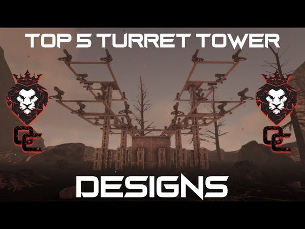 TOP 5 TURRET TOWER DESIGNS! | EASY TO BUILD | ARK: Survival Evolved