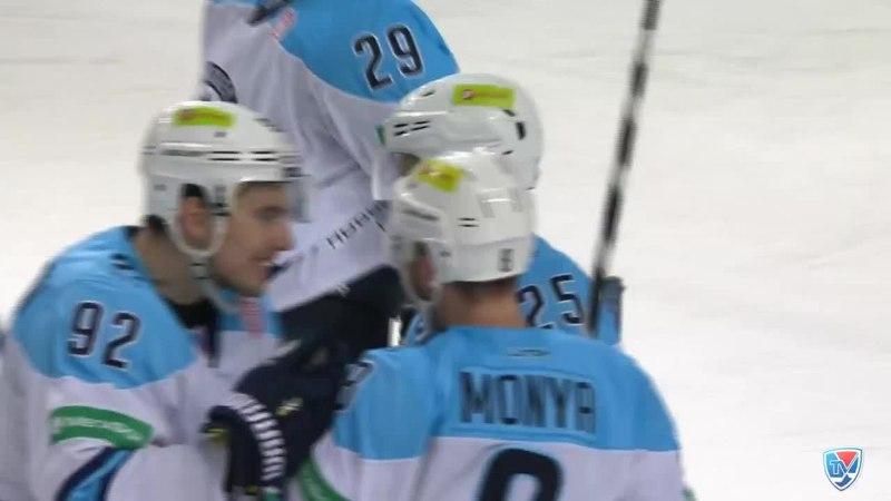 Моменты из матчей КХЛ сезона 14/15 • Гол. 3:5. Моня Дмитрий (Сибирь) отправил шайбу в пустые ворота. 25.12