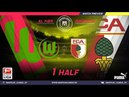 Amateur league КБР 2018| Бундеслига. 3-й тур. Вольфсбург - Аугсбург. 1 тайм