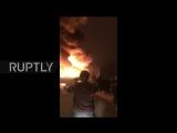 Массивный пожар на лондонской фабрике по производству лаков в.2 Massive Fire In A London Paint Factory v.2