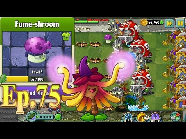 Plants vs. Zombies 2 || Fume-shroom Costume || Pinata Party 3/16/2018 (Ep.75)