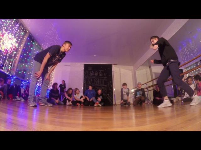 Hip hop advanced   2 круг Влад vs Ира   Новый год в Double Dance