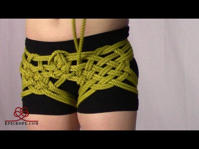 Intermediate   Rope Bondage Tutorial The Hip Holster