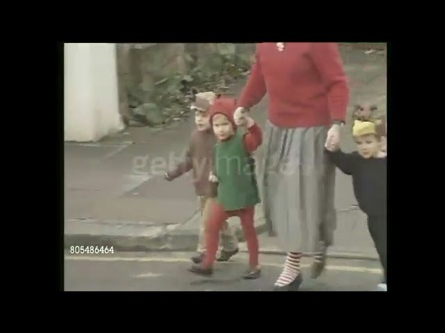 Dec 09, 1987 Prince Harry taken to nursery by his mother Princess Diana for the Christmas schoo play