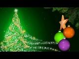 HD Footage Футаж Фон для видеомонтажа Новогодний