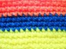 Узор Цветные полоски из столбиков без накида - Crochet pattern Colorful stripes of columns sc