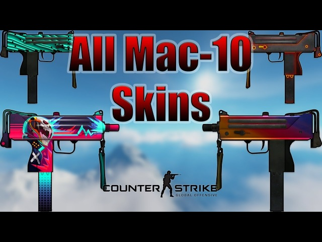 CS:GO | Mac-10 - All Skins Showcase Price 2017 (4K)