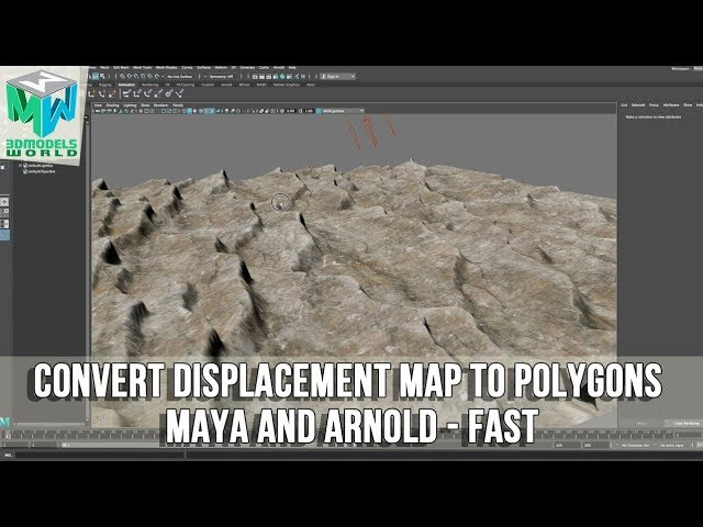 How to Convert Displacement Map to Polygons in Maya and Arnold - Fast