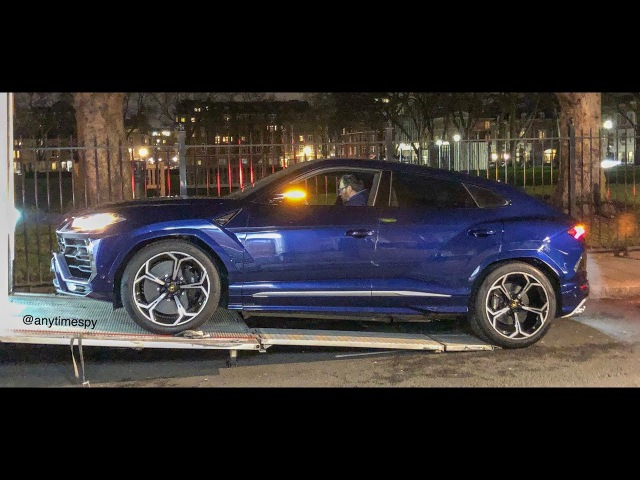 TWO BRAND NEW Lamborghini Urus in London CRASHES INTO KERB