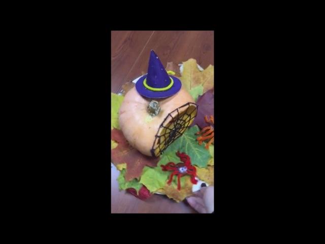 Halloween craft with kids Поделка на Хеллоуин Школа Марины Светлаковой