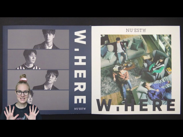 Unboxing NUEST W 뉴이스트 W 1st Mini Album W, HERE (Portrait Still Life Edition)