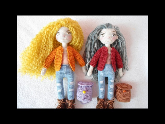 Tiny doll crochet / how to embroidery doll eyes