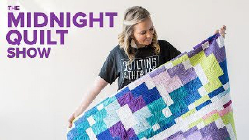 Angelas Modern Bargello Quilt GIVEAWAY | Midnight Quilt Show with Angela Walters