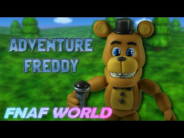 ADVENTURE FREDDY | FNAF WORLD ➢COLD PORCELAIN ➢POLYMER CLAY TUTORIAL