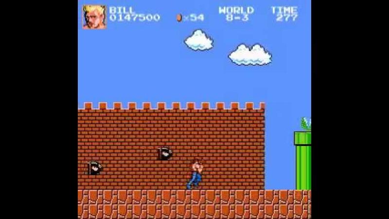 Super Mario Bros. Crossover 3.0 - Contra as Bill Rizer