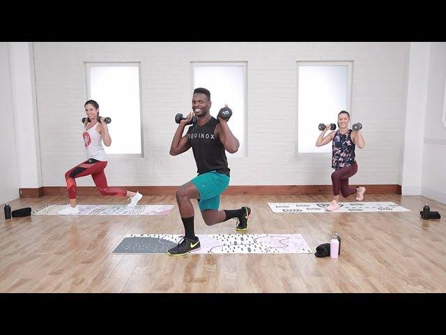 Raneir Pollard - 30-Minute Calorie-Burning HIIT Workout | Интервальная тренировка с гантелями (кардио и сила)