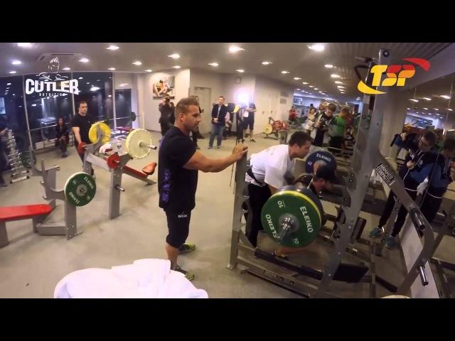 Jay Cutler, Ruslan Bogatyrev and Sergey Shelestov