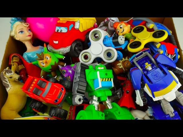 Box Full of Toys   Vehicles Cars Disney toys, Action Figures Transformers Animals Pokemon sun moon