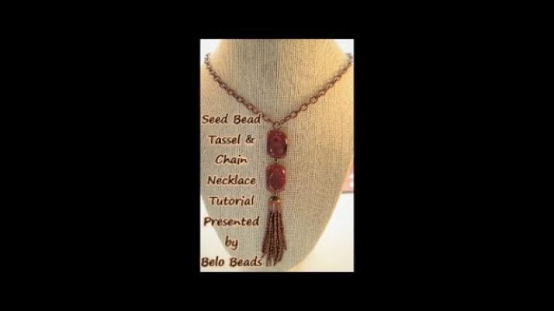 Seed Bead Tassel Chain Necklace Tutorial Super Easy Instructions