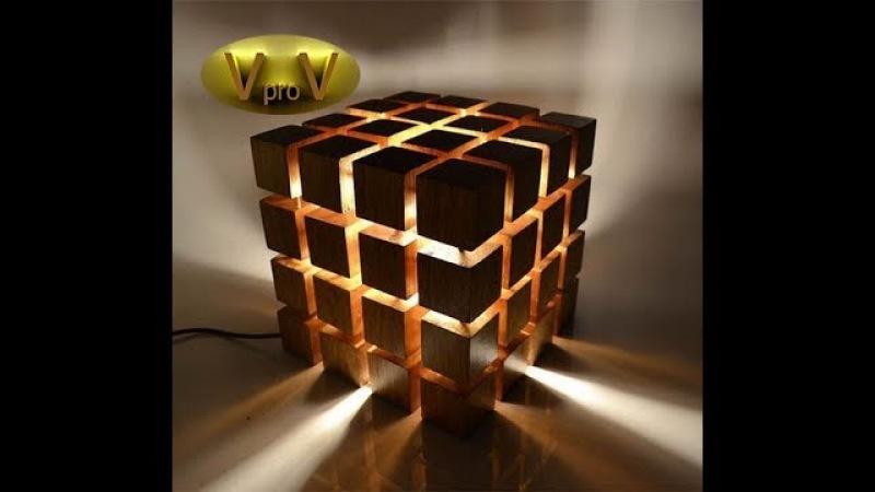 LED (светодиодный) светильник своими руками КУБ Led Lamp DIY 2018