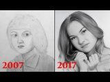 Как я рисовал в детстве  Мой прогресс за 10 лет.