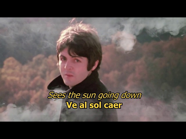 The fool on the hill - The Beatles (LYRICS/LETRA) [Original]