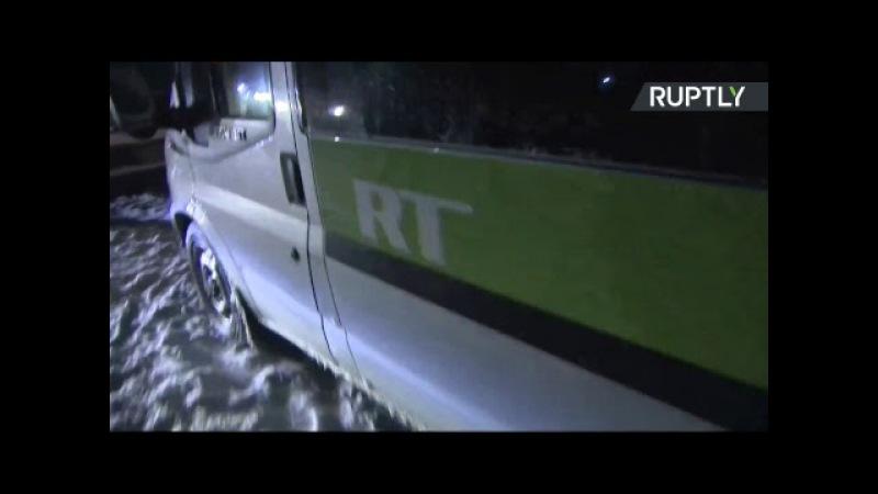 Трансляция с места вблизи крушения Ан 148 в Подмосковье