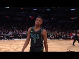 Dennis Smith Jr First Dunk - Slam Dunk Contest   2018 NBA All-Star Saturday Night