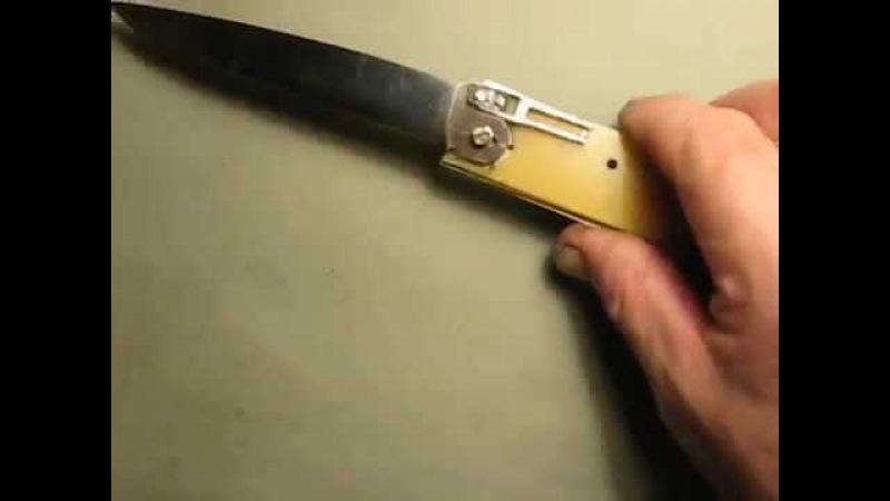 Проверка на макете работы ригеля с пружиной