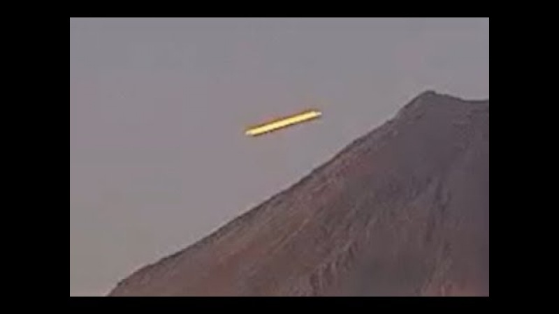 Amazing UFO Caught Exiting Mexico's Famous Colima Volcano on Live Feed