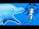 Съедобный Океан! ХИЩНЫЙ ДЕЛЬФИНЧИК ест РУСАЛОК Мультяшная игра про голодную рыб...