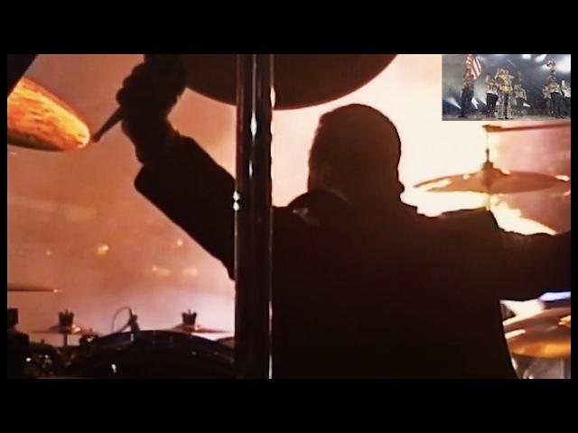 TDCAU Medley Sugarfoot DRUM CAM split screen - HIStory Tour