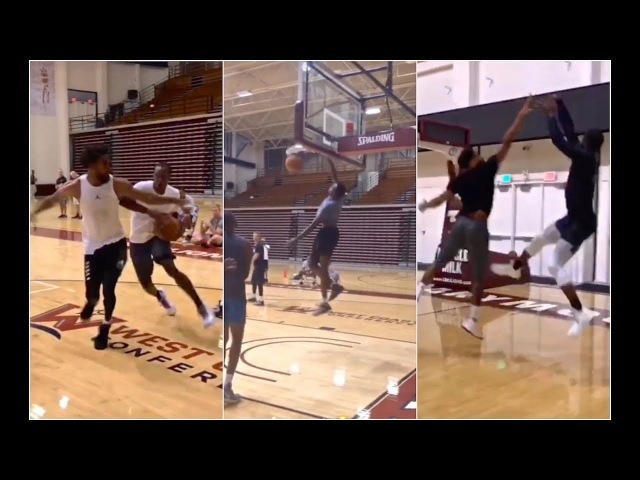 Dwyane Wade hooping with Rajon Rondo, Mike Conley other NBA Players