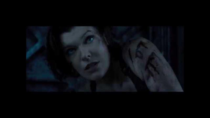 Сцена из фильма Обитель зла: Последняя глава - Элис против Доктора Айзекса.