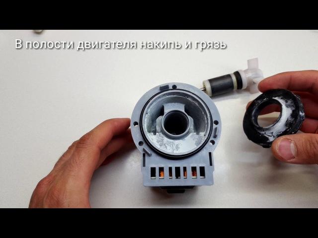 ТОП типичных неисправностей помпы (сливных насосов) стиральных машин