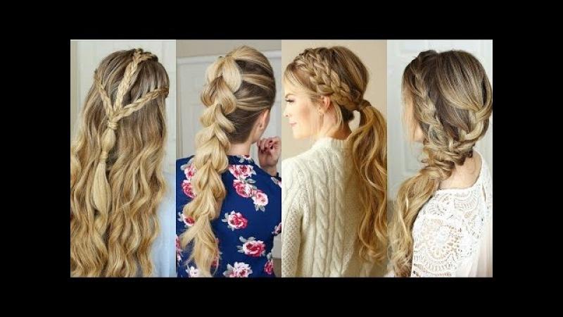 Preciosos peinados fáciles paso a paso con trenzas 2018 🌸 te encantarán! | easy hairstyle tutorial