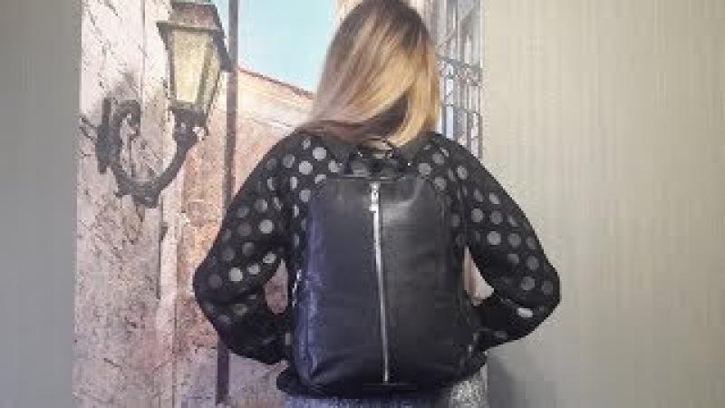 как сшить рюкзак из кожаной куртки