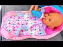 Переноска Люлька для Кукол Беби Борн Полина КАК МАМА заботится о малышах Видео для детей
