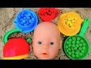 Учим цвета с Куклой Беби Борн и Конфетами Развивающее видео для малышей