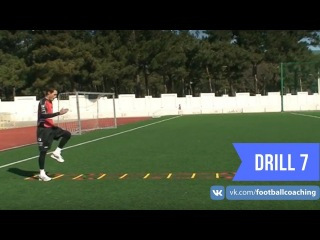 Football coaching video - soccer drill - ladder coordination (Brazil) 7