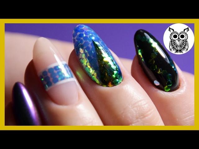 Дизайн ногтей: ЧЕШУЯ КОИ И ВТИРКА