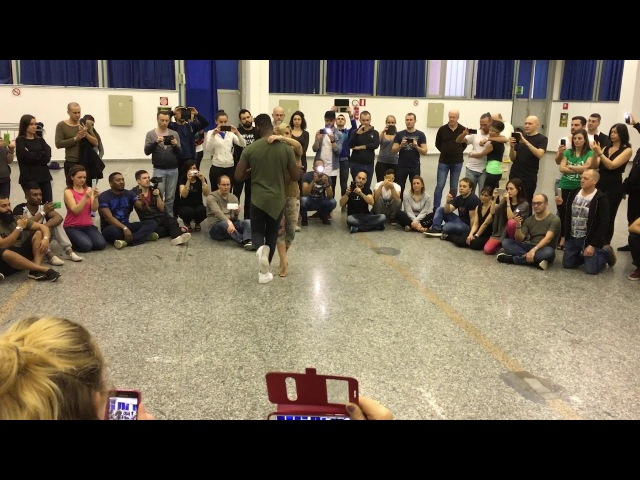 Urban Kiz - Carola Curtis third demo at Kizomba Fusion Roma 2017